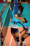 图文-全国女排联赛天津队第六冠魏秋月准备吊球
