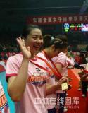 图文-女排联赛天津第六次夺冠魏秋月甜美笑容
