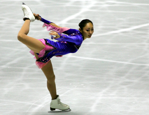 图文-花滑世锦赛团体赛首日安藤美姬人如其名