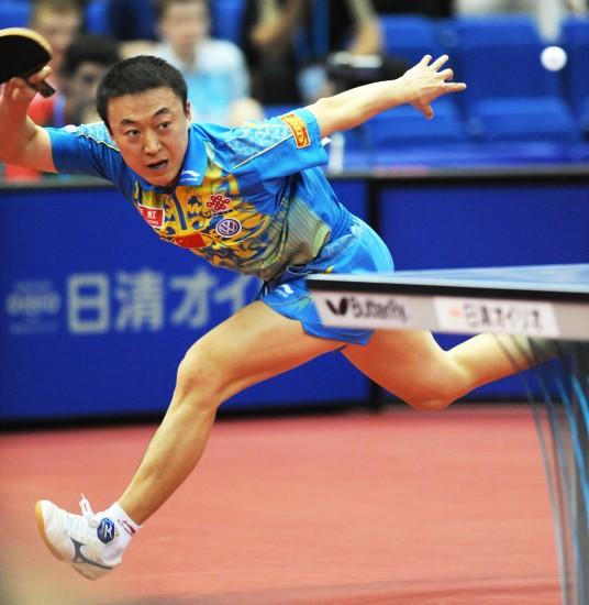 图文-世乒赛马琳晋级男单十六强又现标志性动作