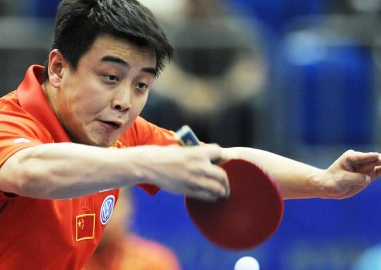 图文-世乒赛男单王皓晋级横扫夺冠路上对手