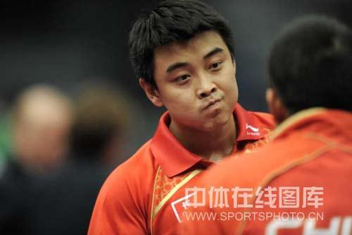 图文-世乒赛男单王皓晋级遇到困难吸取刘导经验