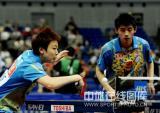 图文-世乒赛混双第二轮张继科/木子晋级32强