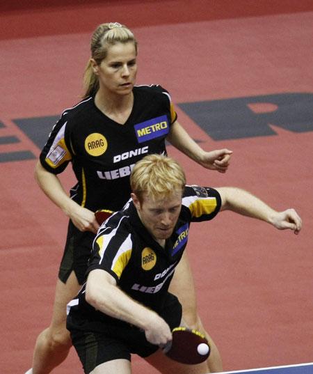 图文-世乒赛混双产生八强德国队苏斯/绍尔晋级