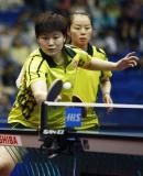 图文-世乒赛女双八强产生姜华�B/帖雅娜胜匈牙利组合
