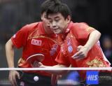 图文-世乒赛男双第三轮激战王皓牢牢守住前台