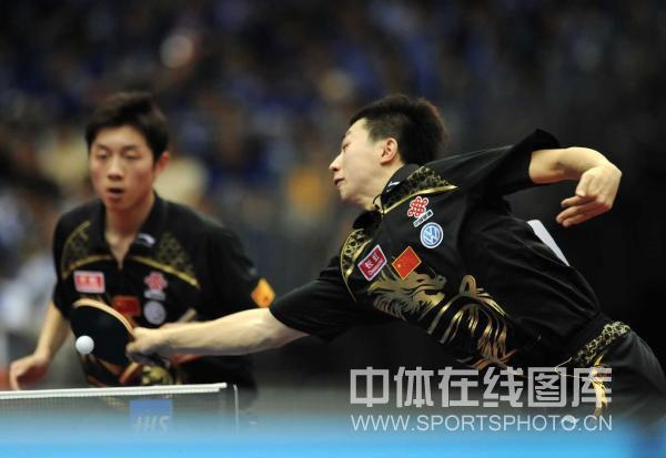 图文-世乒赛男双八强出炉马龙防守密不透风