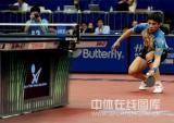 图文-世乒赛男单陈�^4-0水谷隼从地上也把球救起