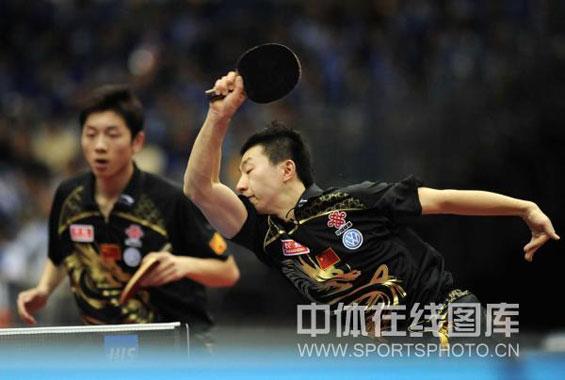 图文-世乒赛男双八强出炉马龙/许昕轻松晋级