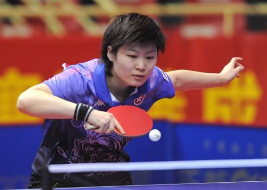 图文-第22届亚洲杯女单首轮赛况姜华�B激战郑怡静