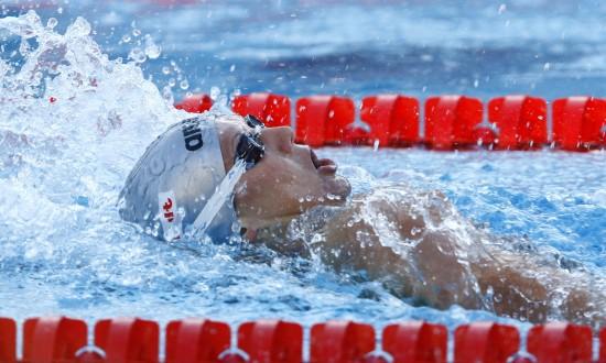 图文-游泳世锦赛祖耶娃破女子100米仰泳世界纪录