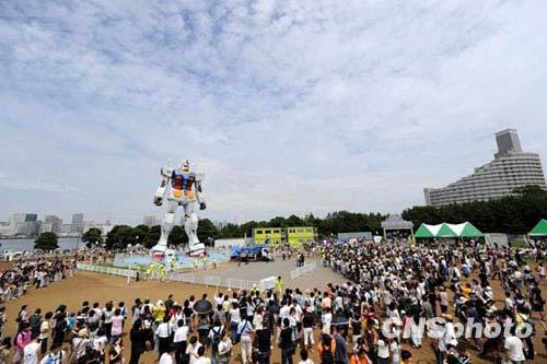 图文-东京为申办2016年奥运宣传18米机器人助兴
