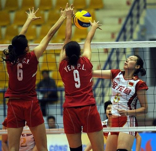 图文-[女排亚锦赛]中国3-0中华台北楚金玲重炮轰击