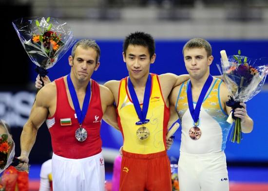 图文-严明勇获世锦赛吊环冠军青出于蓝胜于蓝