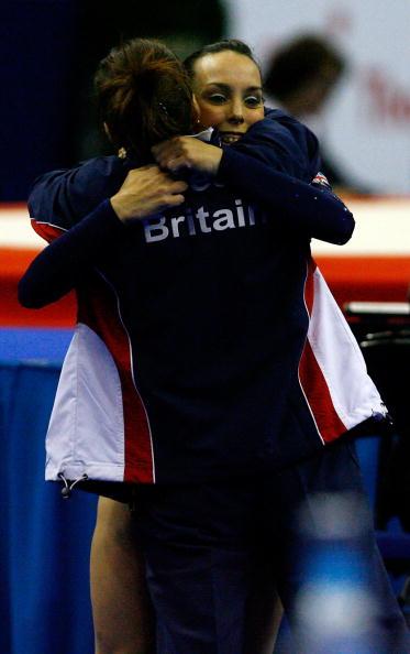 图文-女子自由体操决赛战况特维德尔庆祝获胜