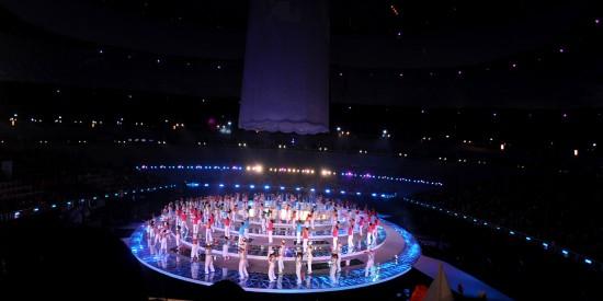 图文-第十一届全运会举行闭幕式呈现视觉盛宴