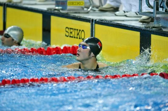图文-游泳亚锦赛28日赛况蔡力夺得50米自由泳冠军