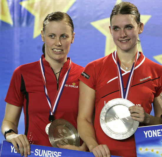 图文-羽联超级赛总决赛女双丹麦组合获得亚军