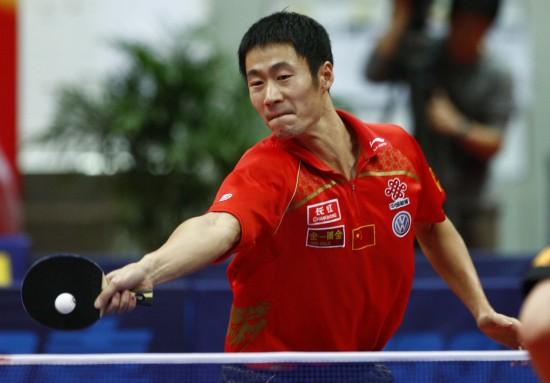 图文-马琳克王励勤获世乒赛最后入场券迎头痛击