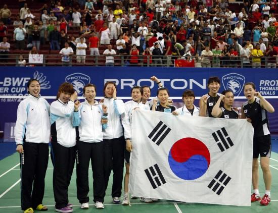 图文-尤杯决赛中国1-3韩国丢冠心情溢于言表