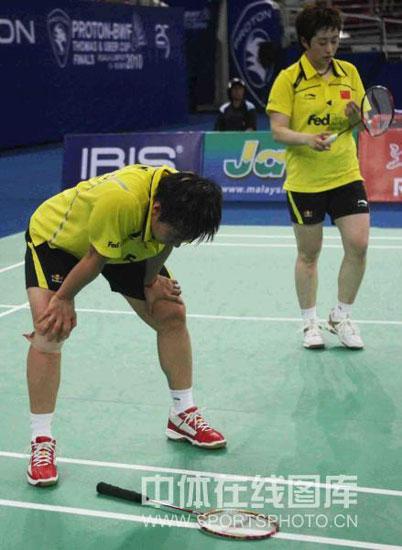 图文-尤杯决赛中国1-3韩国丢冠杜婧有些力不从心
