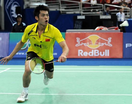 图文-汤杯中国横扫印尼豪取四连冠林丹反手回球