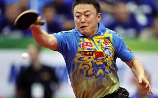 图文-世乒赛男团中国3比0胜俄罗斯马琳正手杀球