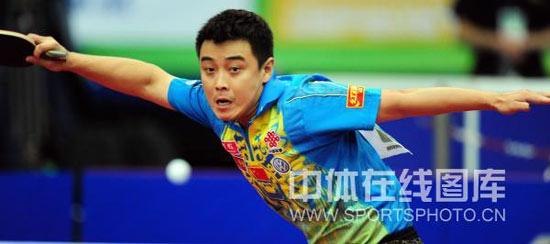 图文-世乒赛男团中国3-0俄罗斯王皓大鹏展翅之势