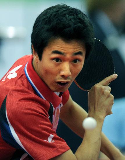 图文-世乒赛男团韩国3比1瑞典朱世赫小心翼翼