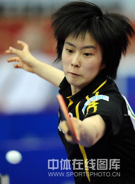 图文-世乒赛女团中国3-0日本石川佳纯成狮王