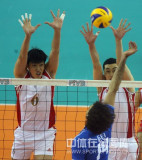 中国队高拦网