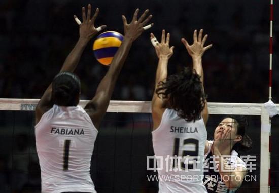 图文-大奖赛总决赛中国0-3巴西陈丽怡难突破