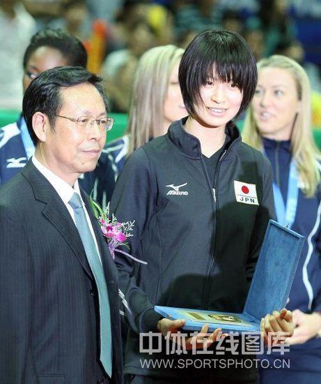 图文-世界女排大奖赛颁奖仪式木村纱织最佳得分