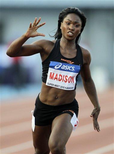 图文-日本川崎超级田径赛麦迪逊加冕女子百米飞人
