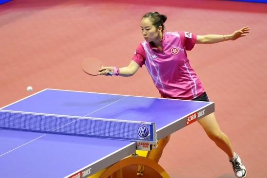 图文-女子乒乓球世界杯1/4决赛帖雅娜淘汰王越古
