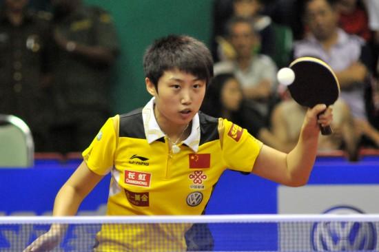 图文-女子世界杯26日赛况郭跃获得女单季军