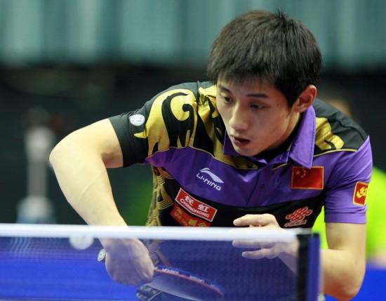 图文-男乒世界杯张继科胜朱世赫张继科巧妙回球