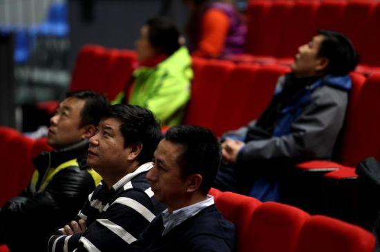 王义夫观看比赛
