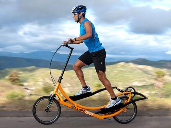 """ElliptiGO椭圆漫步自行车""其实是一辆将跑步机和自行车合二为一的Treadmill Bike。"