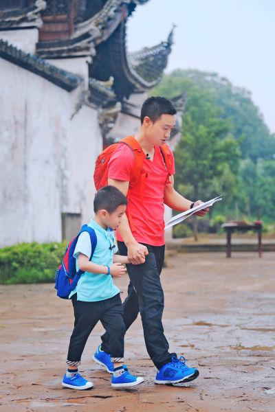 《爸爸去哪儿》第二季,杨阳洋与杨威的新叶村古镇之旅.-奶爸萌娃