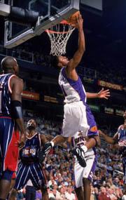 NBA老照片-便士哈达威曾经和乔丹不相上下的男人