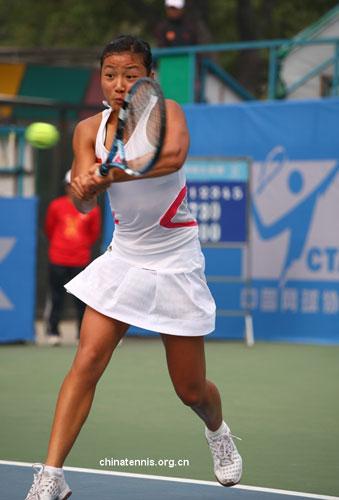 中国网球大奖赛周弈妙0-2不敌徐一�[无缘冠军赛