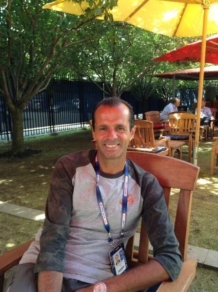 卡洛斯接受新浪网球记者专访(摄影/Joe)