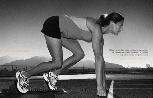 图文-北京奥运画册上的网坛明星她与人生赛跑