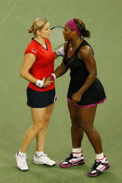图文-美网女单半决赛经历争议一幕小威祝贺小克