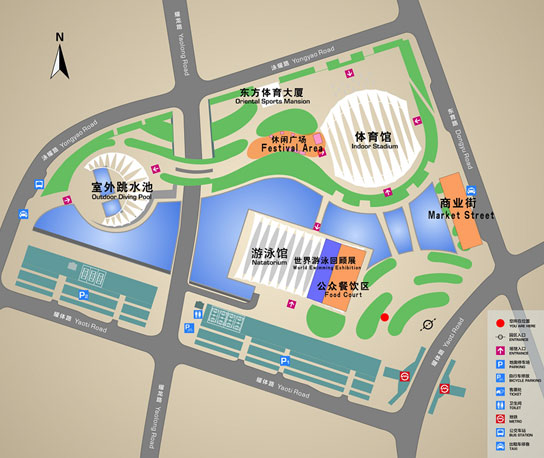 Plan of shanghai oriental sports center