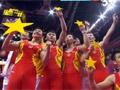 体操男团五星造型欢庆