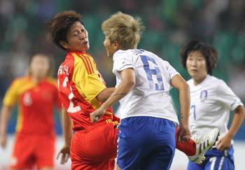 亚运女足-90分钟中国0-0韩国点球7-8负将碰日本