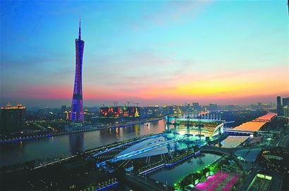 广州海心沙岛今晚将成为万众瞩目的焦点
