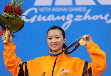 马来西亚选手蔡奉芸蝉联亚运武术冠军